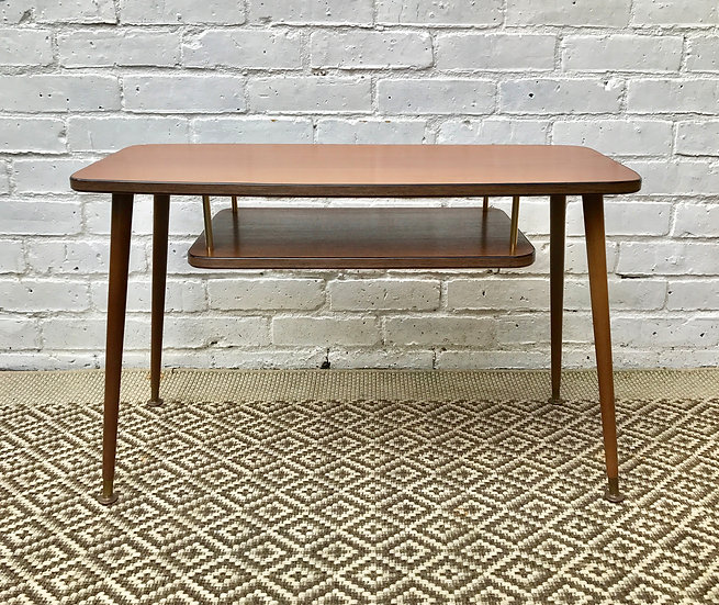Vintage Coffee Side Table With Lower Shelf #379
