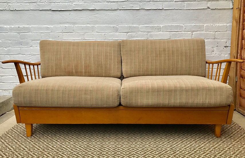 Mid Century German Extending Sofa Daybed #389