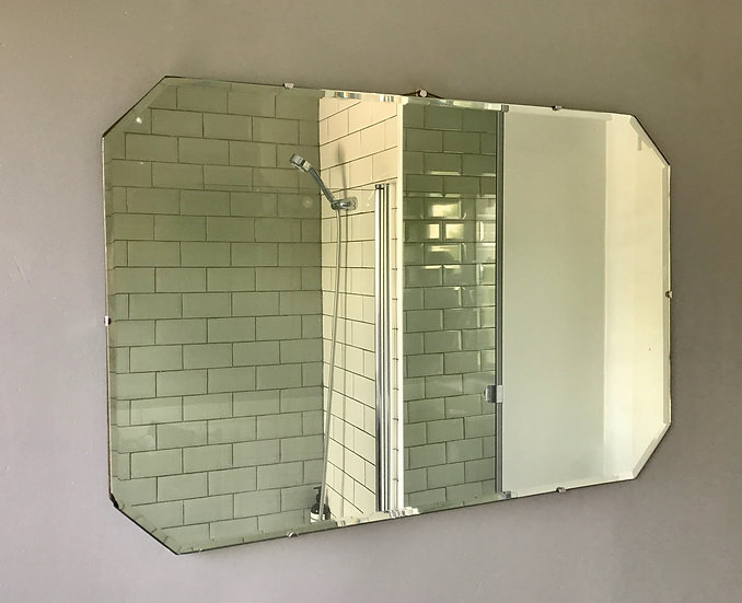 Vintage Art Deco Mirror #424
