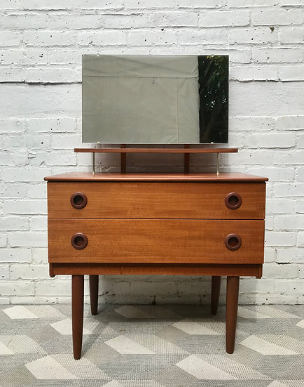 Small Bedroom Drawers Dressing Table Mirror #644