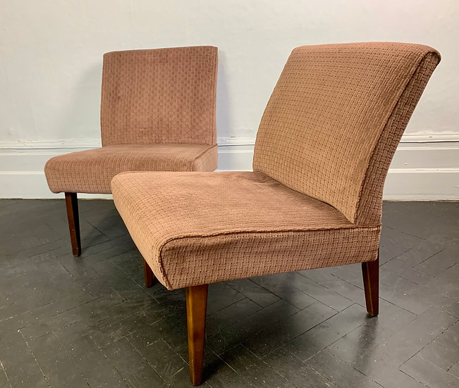 Vintage Pair of Side Chairs Cintique Brown #956