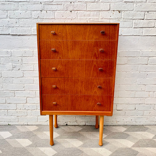 Vintage Tallboy Chest of Drawers Bedroom #D160