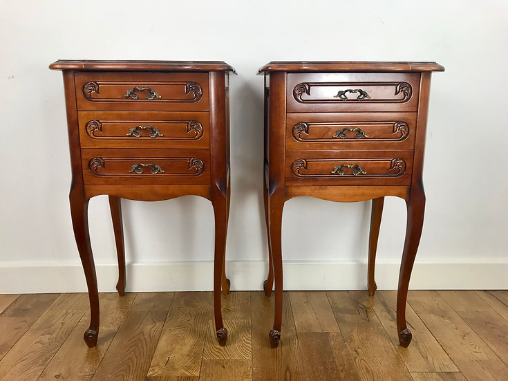 Pair of Bedside Tables French Vintage #674