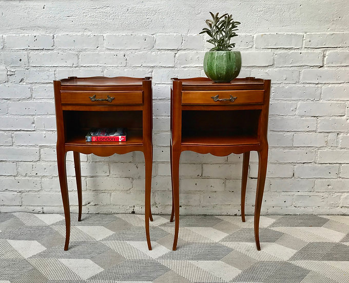 Pair of Vintage Bedside Tables French #614