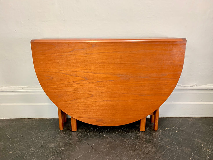 Vintage Folding Gateleg Table Teak #D116