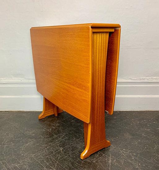 Vintage Teak Folding Dining Table #D76