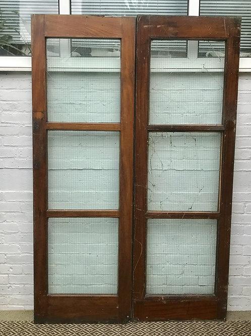 Pair of Internal Wooden Fire Doors #373