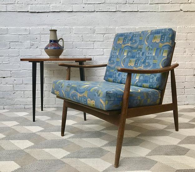Mid Century Wooden Armchair #456