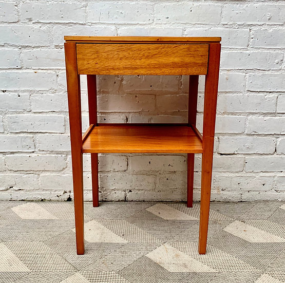 Vintage Bedside Table with Drawer by Remploy