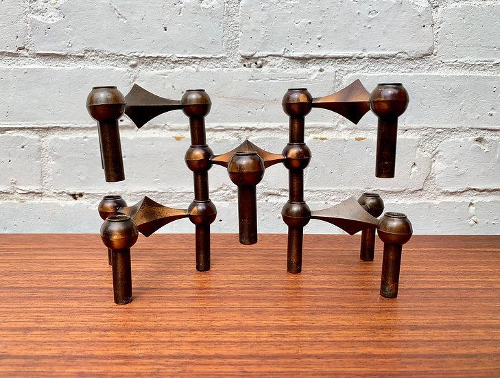Vintage Nagel Modular Candle Stick Holders