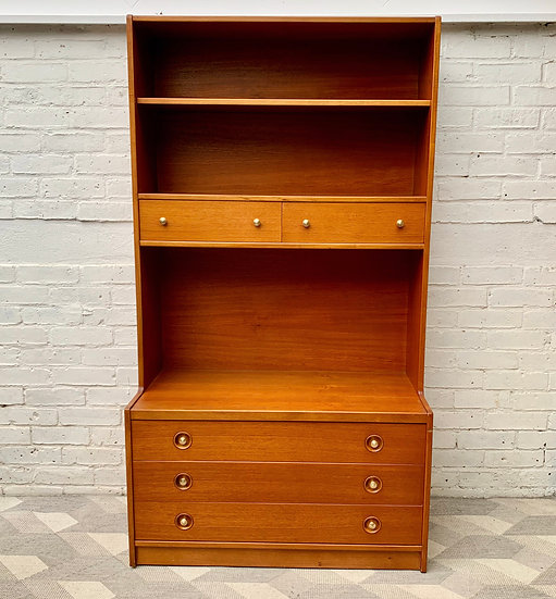 Vintage Bookcase Sideboard Highboard with Drawers