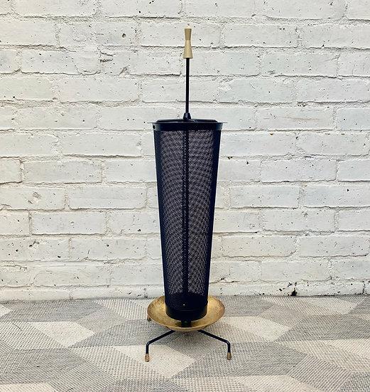 Vintage Umbrella Stand Brass Black
