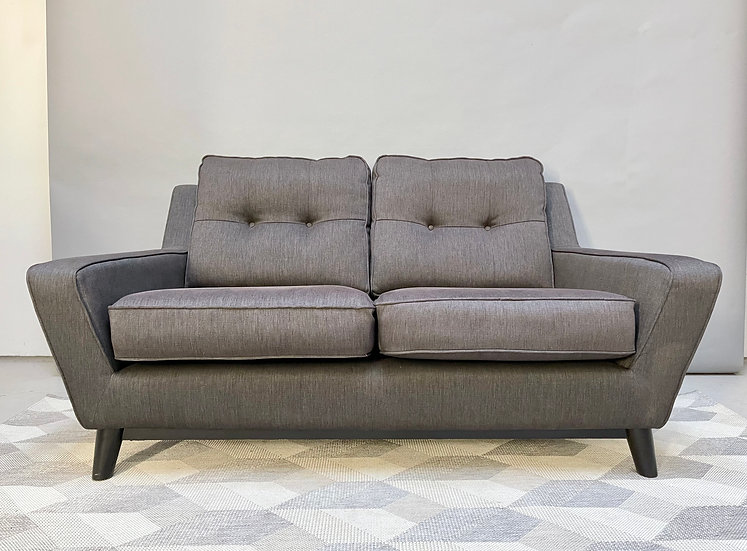 G Plan 2 Seater Sofa Settee, The Fifty Three, Grey