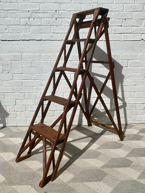 Vintage Wooden Ladder Shelving #D184