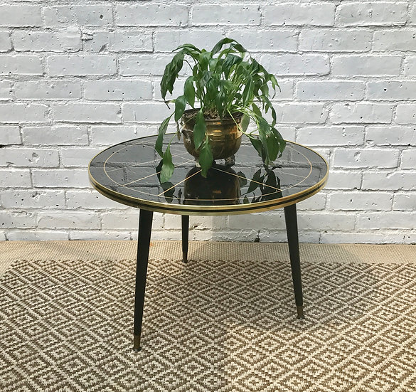 Retro 50s Round Shaped Coffee Table #199