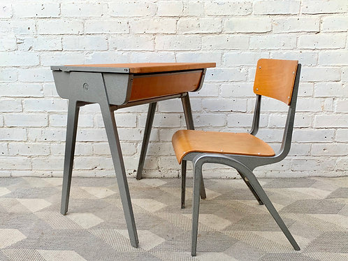 Vintage Child's Desk and Chair by Esavian #D305