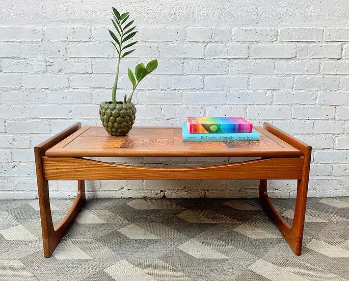 Vintage Tiled Coffee Table Teak #D326