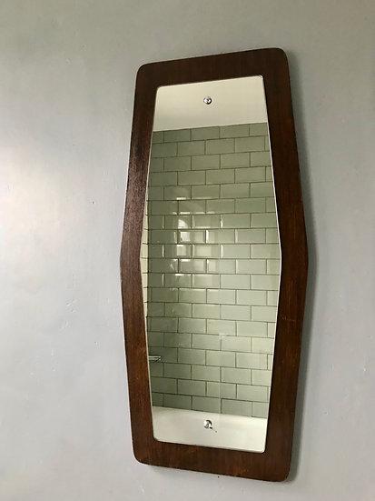 Vintage Retro Wall Mirror Hexagonal #574