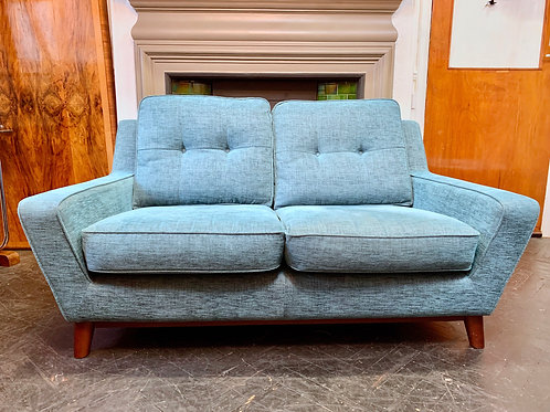 G Plan 2 Seater Sofa, The Fifty Three, Teal front