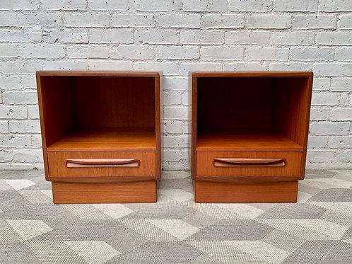 Pair of Vintage G Plan bedside Tables Teak #D93