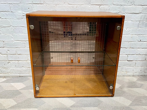Vintage Glass Cabinet Bookshelf Cupboard by Stag #D444