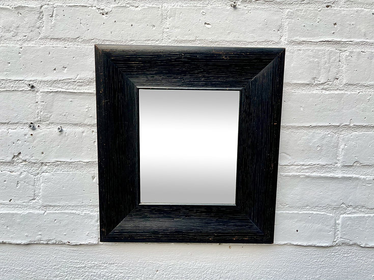 Vintage Wall Mirror Black Wooden Frame