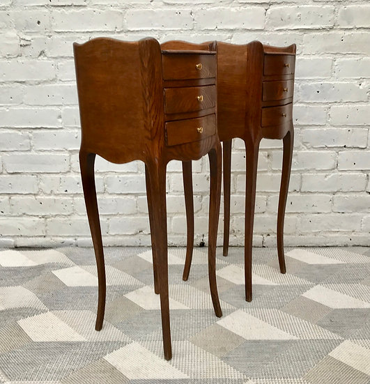 Pair of Vintage Bedside Tables - French #525