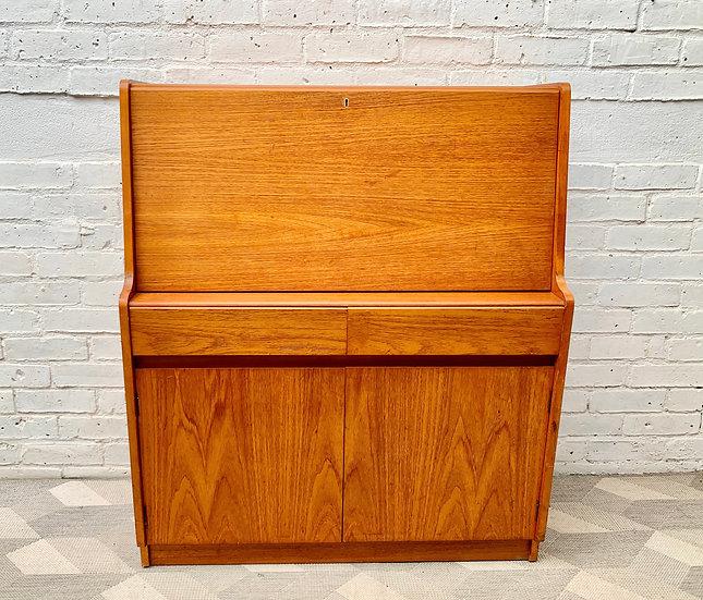 Vintage Bureau Cabinet Desk by Remploy #D386