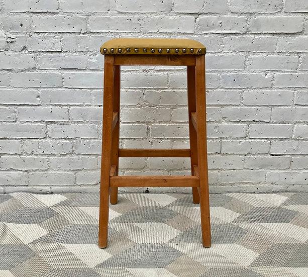 Vintage Retro Wooden Bar Stool #568