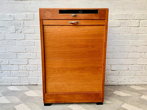 Vintage Filing Cabinet Tambour Haberdashery #D218