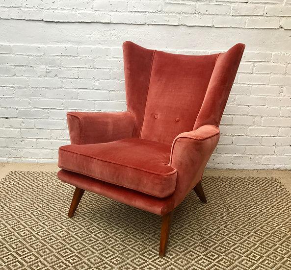 Wing Back Vintage Retro Armchair #351