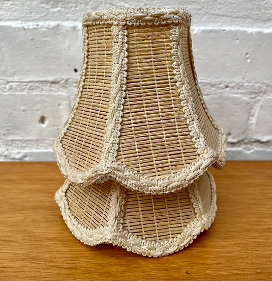 Vintage Pair of Small Lampshades