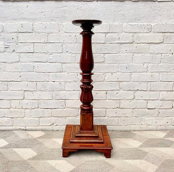 Antique Plinth Pedestal Plant Stand Wooden #D183