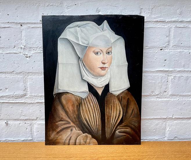 Portrait Painting of a Woman with a Winged Bonnet, Rogier van der Weyden