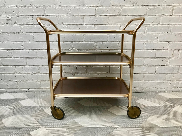 Vintage Retro Tea Drinks Trolley Bar Cart #552
