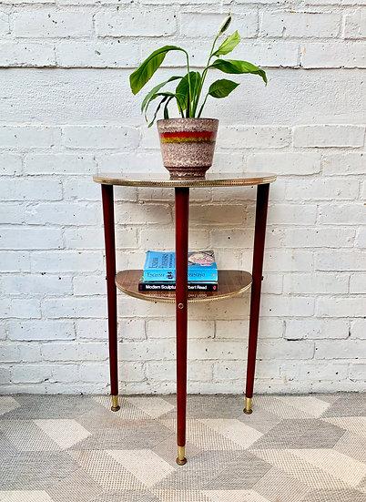 Vintage Crescent Side Table/ Hallway Table #D138