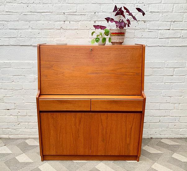 Vintage Bureau Cabinet Desk by Remploy #D469