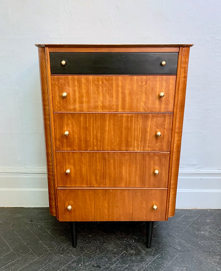 Vintage Tallboy Chest of Drawers Bedroom #D221