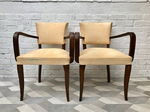 Pair of Bridge Side Chairs - French #479