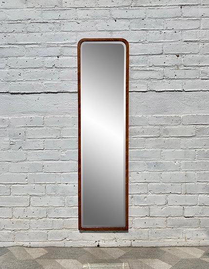 Vintage Art Deco Mirror Wood Frame #D62