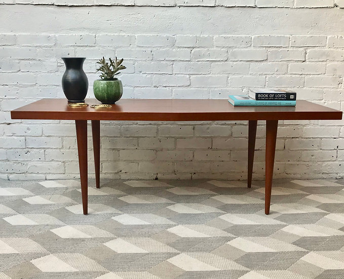 Mid Century Coffee Table Large Wooden #589