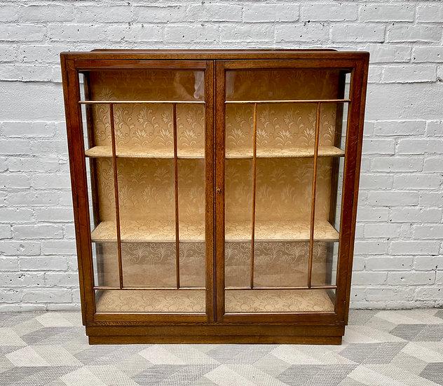 Vintage Art Deco Glass Display Cabinet