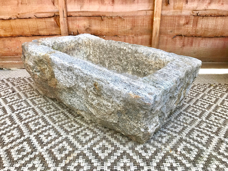 Garden Planter Carved Granite Stone #370