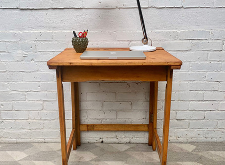 Vintage Folding School Desk
