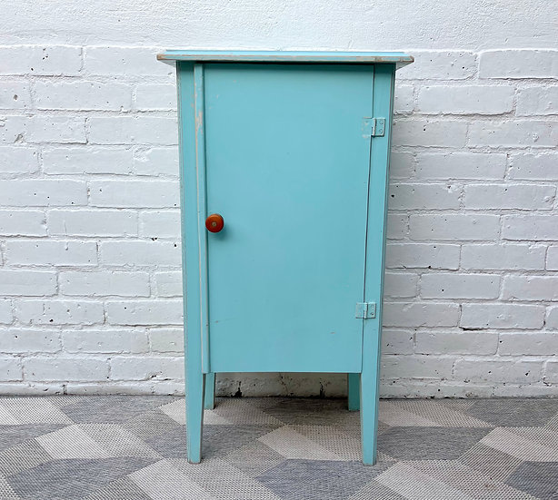 Small Vintage Painted Cabinet from France