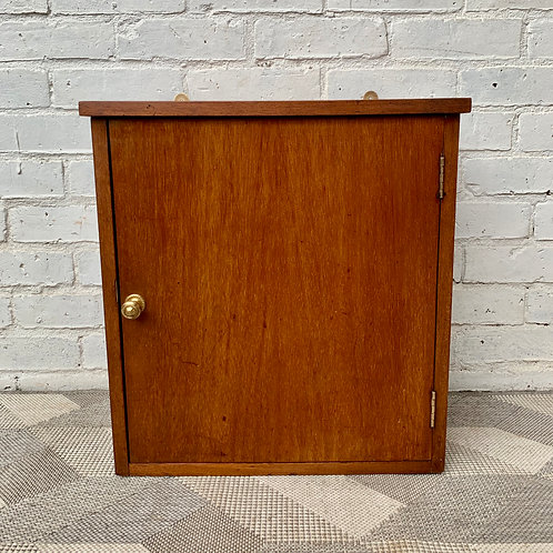 Vintage Wooden Wall Cabinet Haberdashery Pigeon Holes #D123