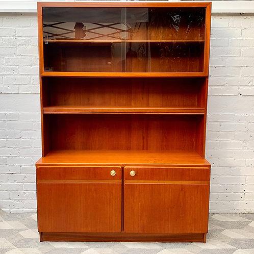 Vintage Bookcase Sideboard Highboard Teak front