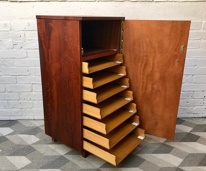 Vintage Wooden Filing Cabinet Drawers Haberdashery #872