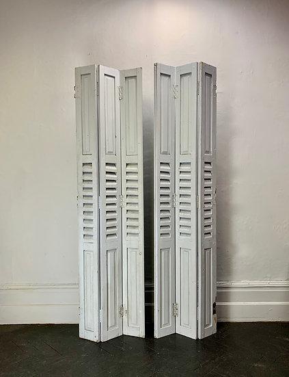 Pair of Wooden Screens Window Shutters #926
