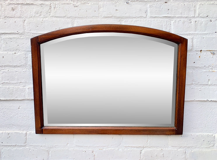 Vintage Wall Mirror Bevelled Glass #D384